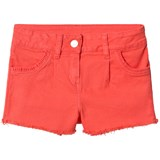 Lili Gaufrette Coral Frayed Hem Denim Shorts