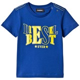 Diesel Blue and Lime Diesel Best Ever Print Tee