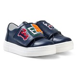 Fendi Navy Branded Velcro Trainers