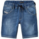 Diesel Blue Mid Wash Jog Jean Shorts