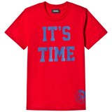 Diesel Red Time 2 Party Print Tee
