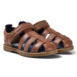 Kickers Brown Leather Orin Sandal