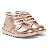Kickers Rose Gold Leather Kick Hi Boots