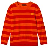 Acne Studios Geranium Orange and Red Mini Nalon Sweatshirt