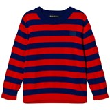 Acne Studios Ink Blue and Red Mini Nalon Sweatshirt