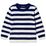 Acne Studios Natural White and Navy Mini Nalon Sweatshirt