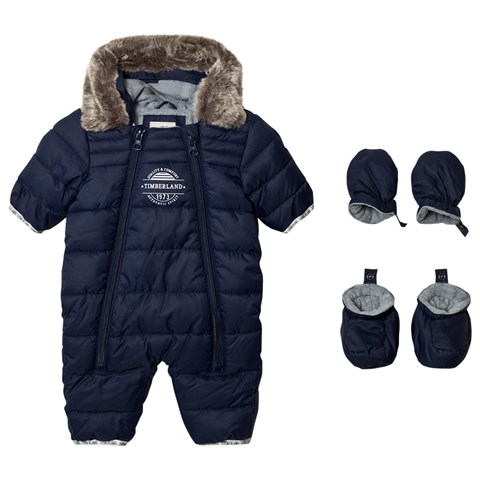 Timberland Kids Navy Puffer Hooded Snow Suit