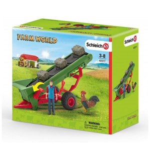 Schleich Farmer with Hay Conveyor Toy One Size