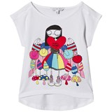 Little Marc Jacobs White Miss Marc Sweetie Print Tee