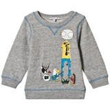 Little Marc Jacobs Grey Mr Marc and Band Friends Sweatshirt
