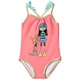 Little Marc Jacobs Pink Miss Marc and Sea Friends Print Swimsuit