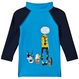 Little Marc Jacobs Blue Mr Marc and Band Print Rash Vest