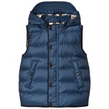 Burberry Navy Mini Bradley Puffer Hooded Gilet