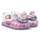 Mini Melissa Silver Glitter Mini Aranha Piggy Sandals