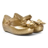 Mini Melissa Gold Glitter Butterfly Shoes
