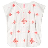 Seafolly White and Red Embroidered Kaftan