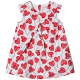 Catimini Red and White Heart Lollipop Print Wrap Front Sleeveless Dress
