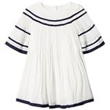 Chloé Off White Large Sleeves Fancy Braid Dress