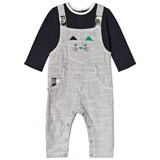 Catimini Navy Tee and Dungarees Mock Outfit All in One