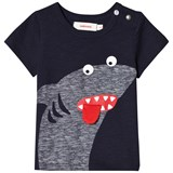 Catimini Navy Shark Applique Tee