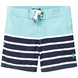 Ralph Lauren Blue and Navy Stripe Swim Shorts