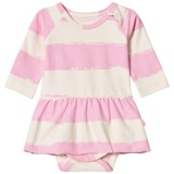 Noe & Zoe Berlin Pink Stripe Infants Body with Skirt