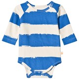 Noe & Zoe Berlin Blue Stripe Infants Long Sleeve Body