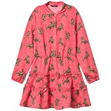 Guess Pink Tiger Print Long Sleeve Shirt Dress