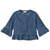 Il Gufo Blue Peplum Denim Jacket