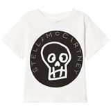 Stella McCartney Kids White Stella Skull Print Tee