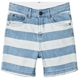 Stella McCartney Kids Blue Stripe Denim Blake Shorts