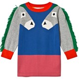 Stella McCartney Kids Multi Colour Donkey Fringe Sleeve Rita Knit Dress