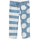 Stella McCartney Kids Blue Stripes and Dots Loan Jeans