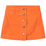 Stella McCartney Kids Orange Karlie Button Front Skirt
