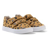 AKID Brown and Black Dalmatian Print Velcro Trainers