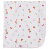 Kissy Kissy White Safari Stroll Print Blanket