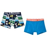 Bjorn Borg Blue and Navy Print Boxers Set
