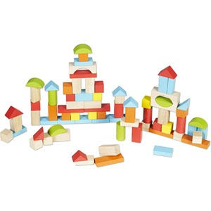 Classic World Coloured Wooden Blocks Set One Size