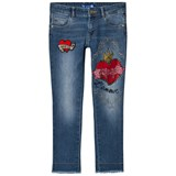 Guess Pale Blue Embroidered and Applique Jeans