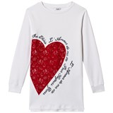 Guess White Heart Applique Sweat Dress