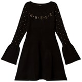Guess Black Knit Dress with Gold Branding