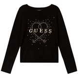 Guess Black Logo and Stud Jumper