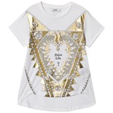 Guess White and Gold Love Heart Tee