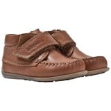 Bisgaard Cognac Prewalker Leather Shoes with Velcro