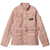 Barbour Pale Pink Flyweight International Quilted Belted Jacket