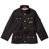 Barbour Black Flyweight International Quilted Belted Jacket