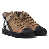 Burberry Beige and Black Classic Check Zip and Lace Trainers