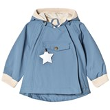 Mini A Ture Pale Blue Asymmetric Rib Detail Hooded Jacket