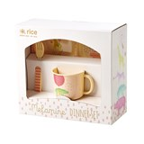 RICE A/S Pale Pink Baby Melamine Dinner Set in Gift Box