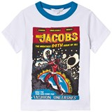 Little Marc Jacobs White Superhero Comic Print Tee